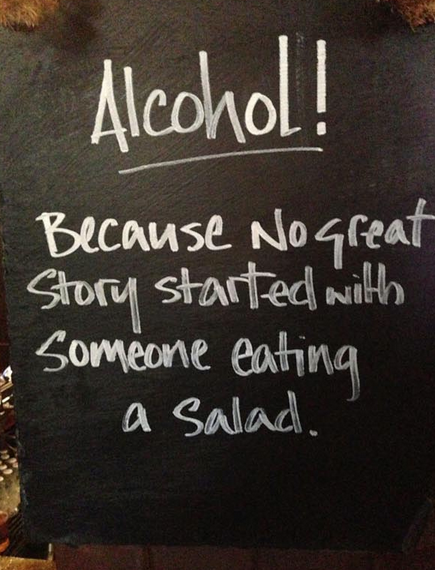 Chalkboard Sign Alcohol
