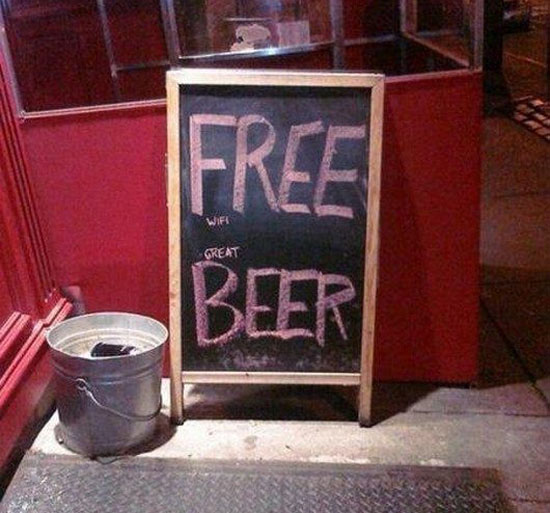 10 of our favorite funny clever and outrageous chalkboard signs buzztime - Alternative uses for beer ten ingenious ideas ...