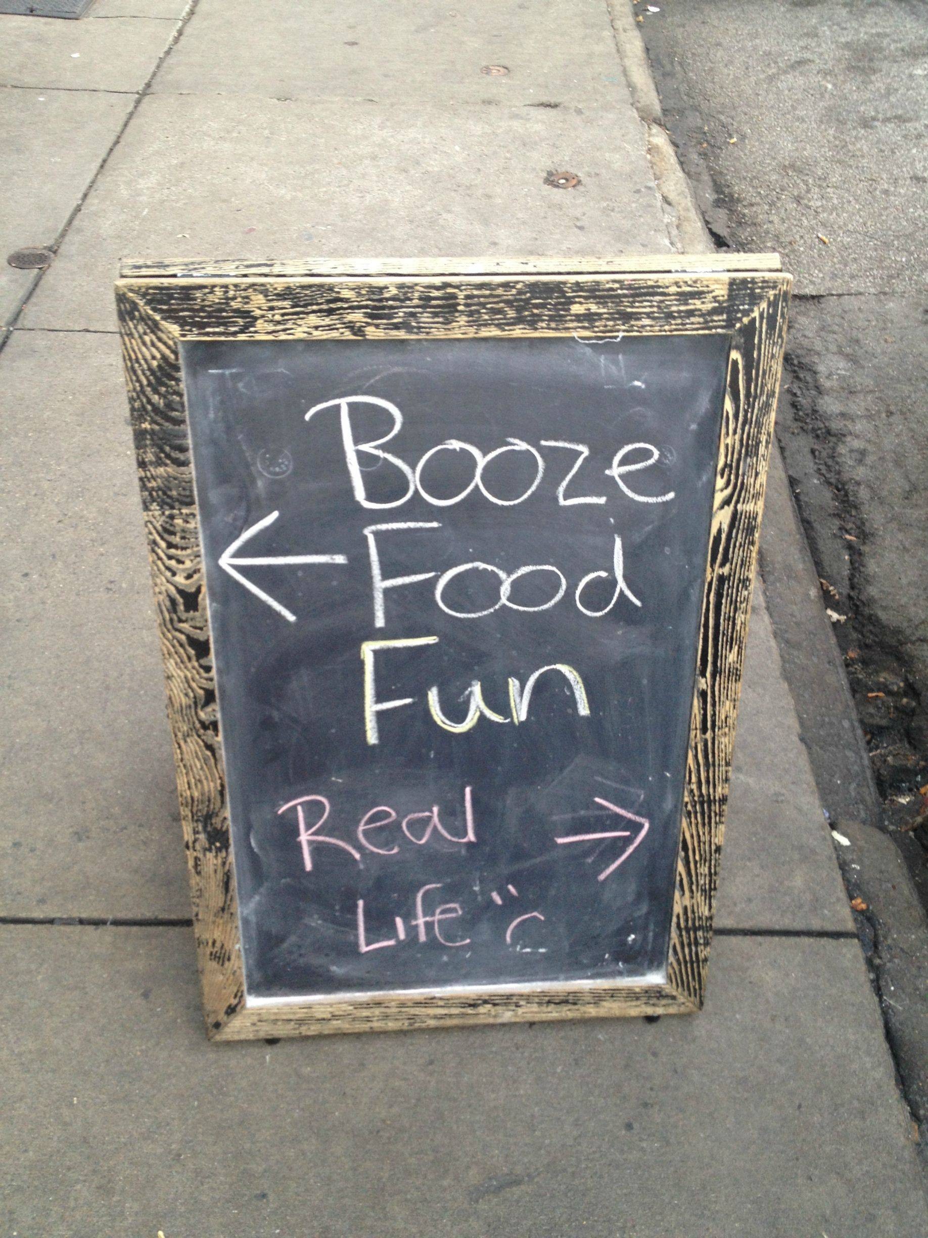 Chalkboard Sign Real Life
