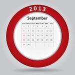 September monthly calendar - restaurant