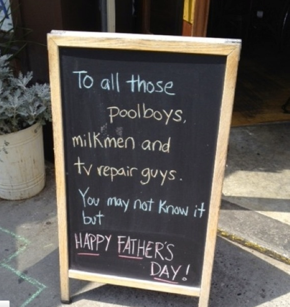 chalkboard sign happy fathers day