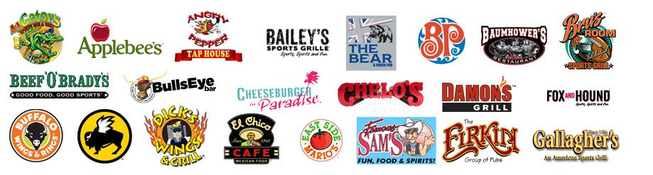 Our Brand Partners include Buffalo Wild Wings, Arooga's, Beef o' Brady's, Buffalo Wings and Rings, Hooters, to name a few.