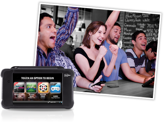 Buzztime brings endless entertainment with trivia, live trivia, and card games