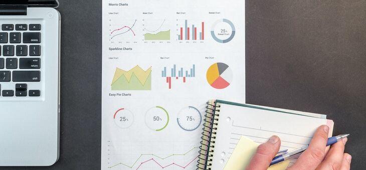Charts tracking bar sales