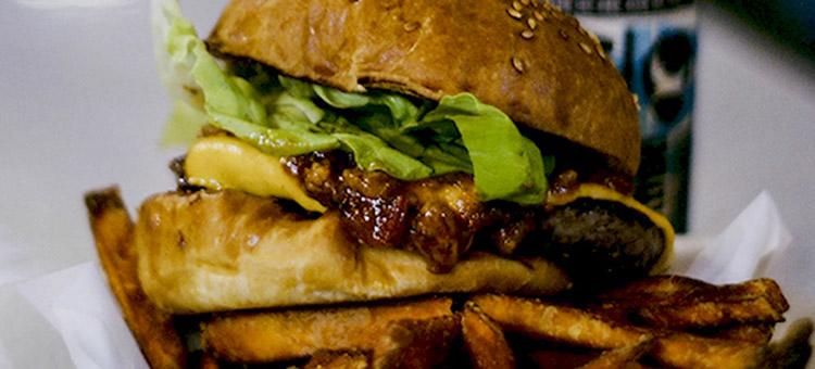 happy hour cheeseburger