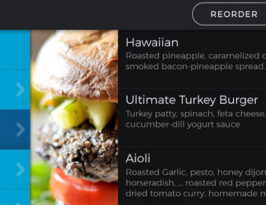 Choose your meal from the Buzztime Tablet