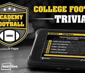 Buzztime and Dr Pepper Kick-Off <em>Academy of Football</em> Trivia Game, with Chances to Win a VIP College Football Experience