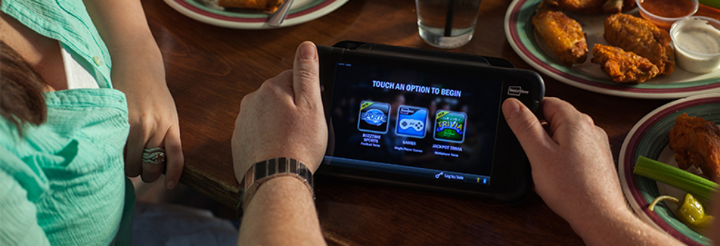 Buzztime Tablet with Game Options